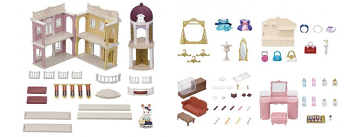 Everything in the Calico Critters Town Grand Department Store Gift Set.