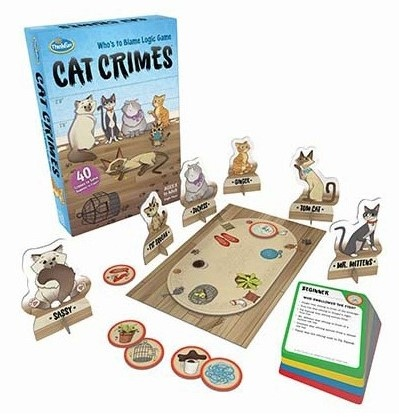 Cat Crimes mystery game by Thinkfun