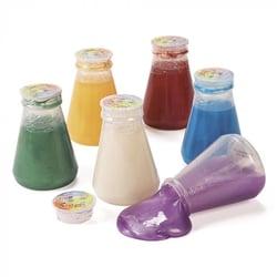 Metallic-Slime-in-Laboratory-Flasks