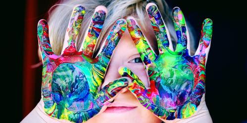 identify-a-goal-kid-fingerpain-hands