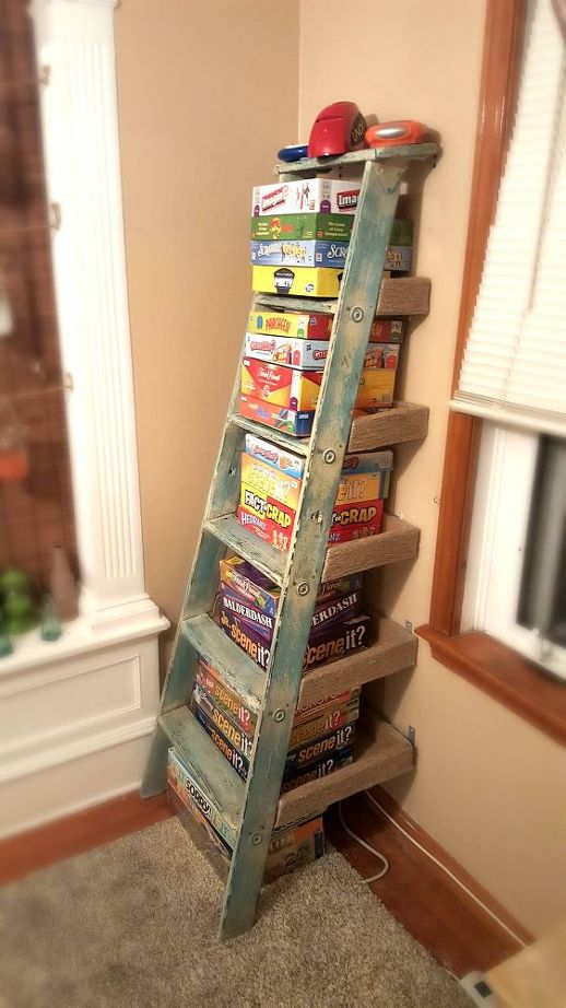 repurposed-ladder-shelf-project-repurposing-upcycling-shelving-ideas-storage-ideas