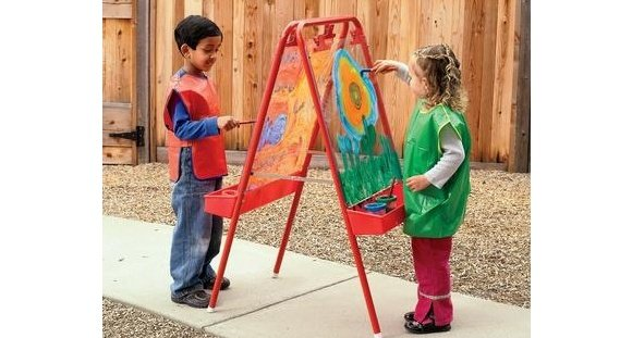 This  Two-Way Acrylic Panel Easel  is a great tool for creating outdoors!.