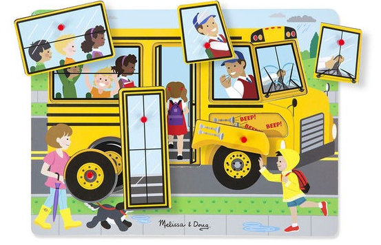 One of our most popular wooden puzzles for ages 2+ from Melissa and Doug,