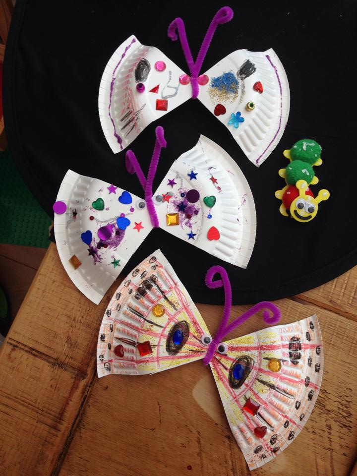 Paper Plate Butterflies