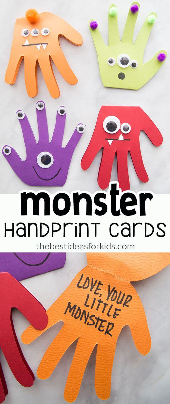 Toddler Program Monster Handprint